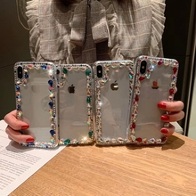 Tfshining Fashion Rhinestone Glitter Phone Cases For  iphone X XS Max XR 7 8 Plus 6 6s Bling Diamond Back Cover Coque Gifts