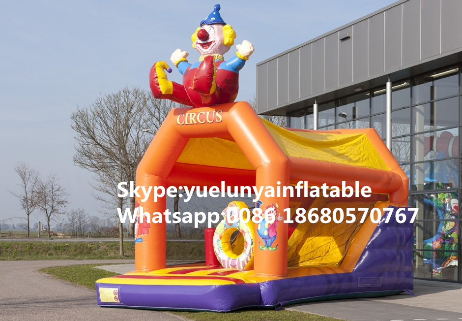 (China Guangzhou) Manufacturers Selling Inflatable Slides,Clown Slide Obstacles KY-676