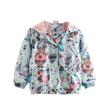 Новые осенние милые пальто для маленьких девочек милый мультфильм печатных дети детская верхняя одежда для Пальто для девочек