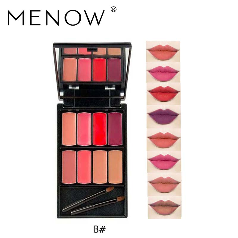 MENOW Brand 8 colors Lip Gloss Palette Makeup Waterproof Lasting Moisturizer Lipsticks Women beauty lips Cosmetic Lip tintL501 1