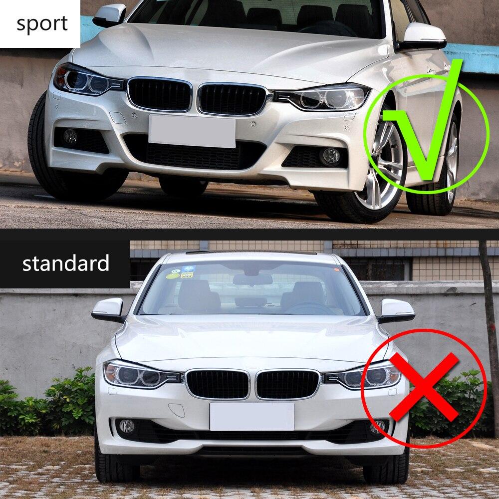 3 Series Carbon Fiber Car Front Bumper Lip Chin Spoiler With