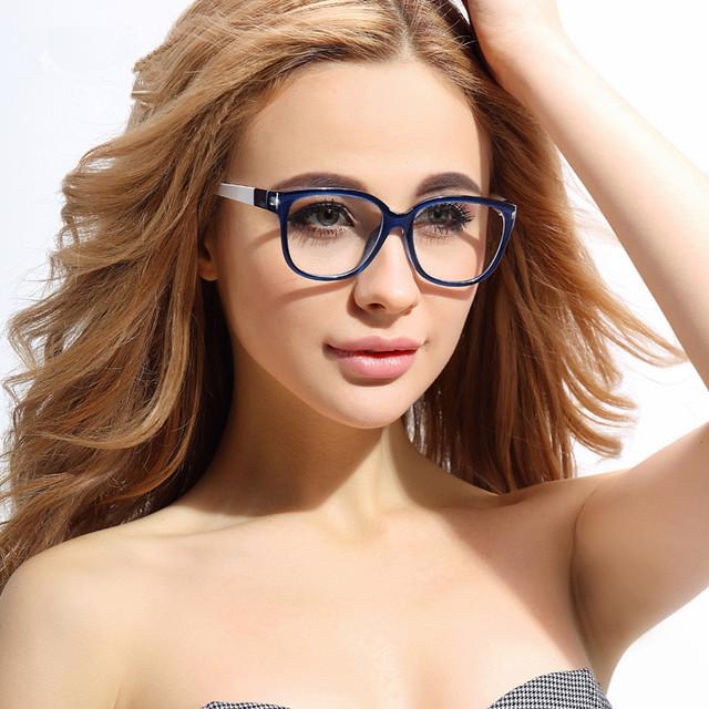 TR 90 Óculos Retro Quadro Mulheres Moda Moldura Dos Vidros Ópticos