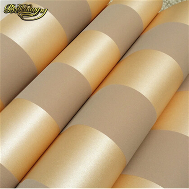 Aliexpresscom Buy Beibehang M Roll Modern Simple Style D - Brown and cream wallpaper