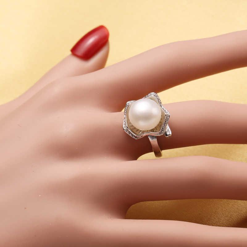 FENASY 925 סטרלינג כסף מים מתוקים פרל Jewerly סטים לנשים Boho מעטפת עיצוב עגילי יוקרה הצהרת טבעת שרשרת סט