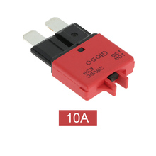 F447 Manual Reset Circuit Breaker Blade Fuse with Button 10A for BMW Cars Truck Motorcycle