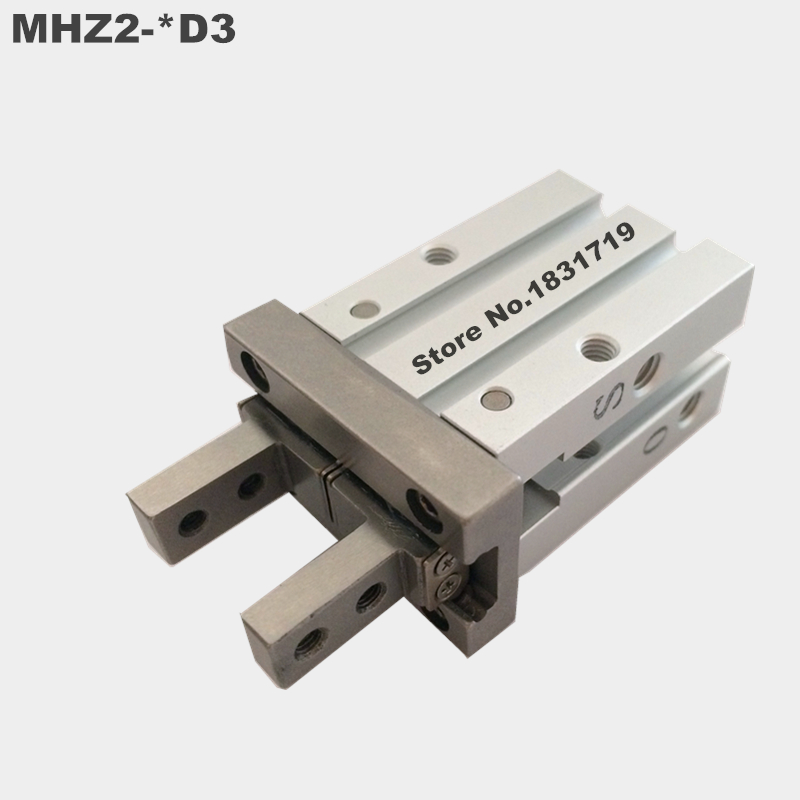 SMC standard type MHZ2-40D3 pneumatic finger cylinder parallel open air claw mhz2 6s mhz2 6s1 mhz2 6s2 high quality pneumatic finger cylinder parallel open single action open air claw