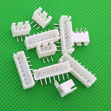 50pcs lot Male Right Angle Material Connector Leads pin Header 2 54mm XH AW XH2 54