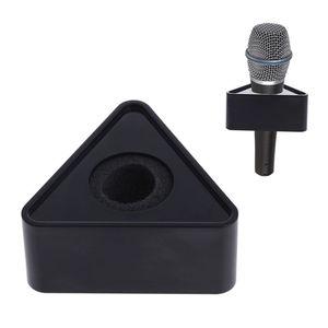 Image 1 - OOTDTY ABS plastica microfono intervista triangolare Logo Flag Station nero/bianco durevole