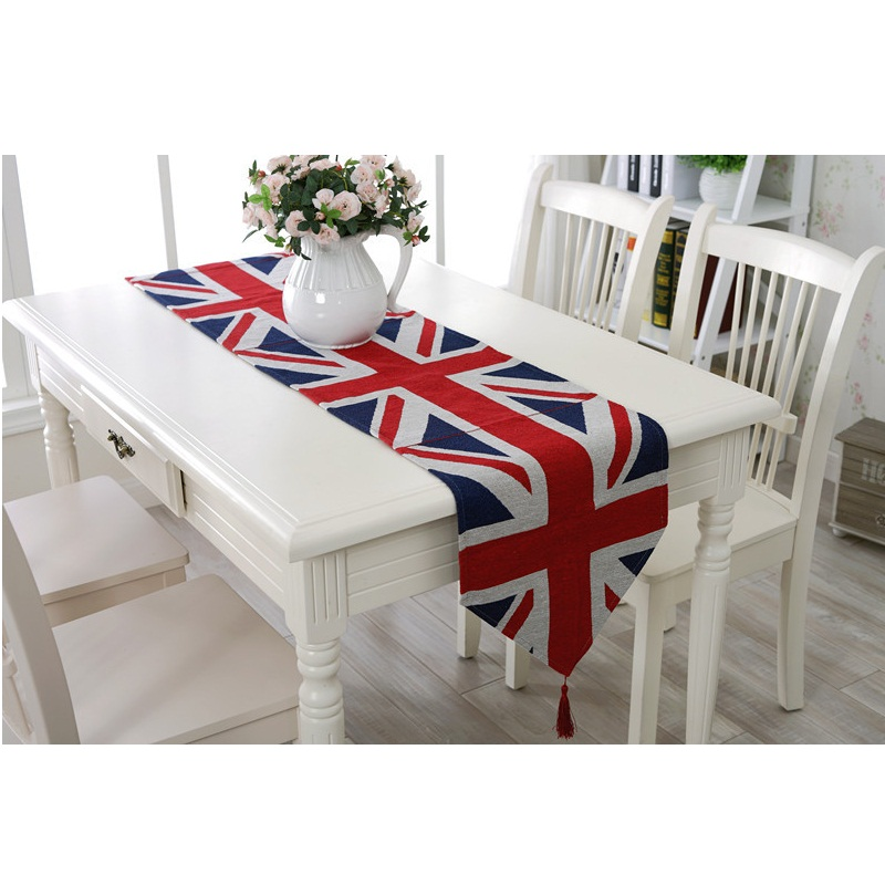 Modern Minimalist British Union Jack Flag Placemat Insulation Mat Table Runner Cloth Home Decor Wedding Christmas Gifts In Tablecloths From