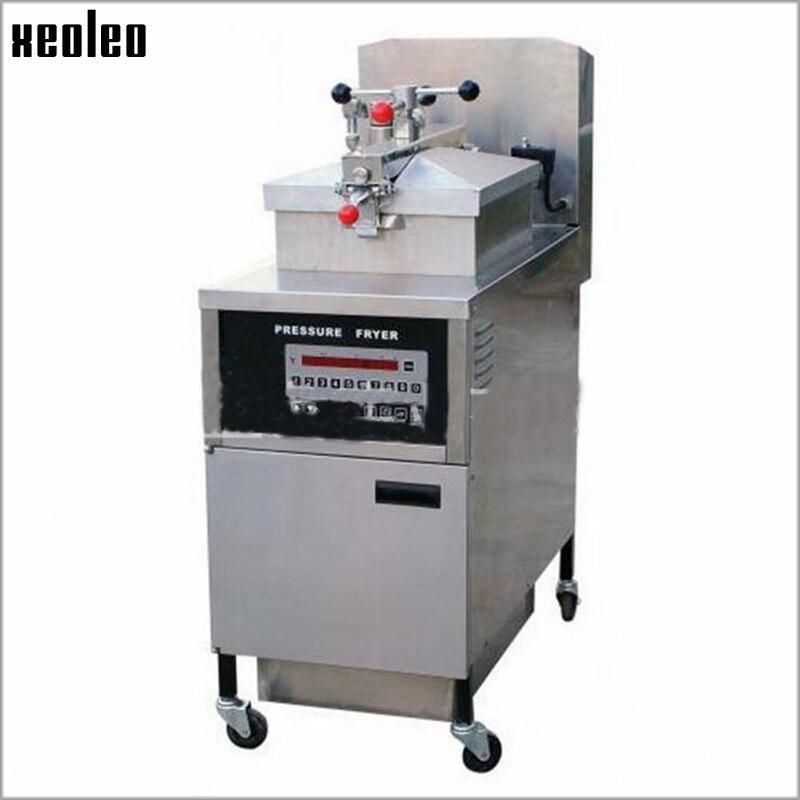xeoleo duck pressure fryer commercial electric deep fryer 25l stainless steel table top chicken pressure fryer