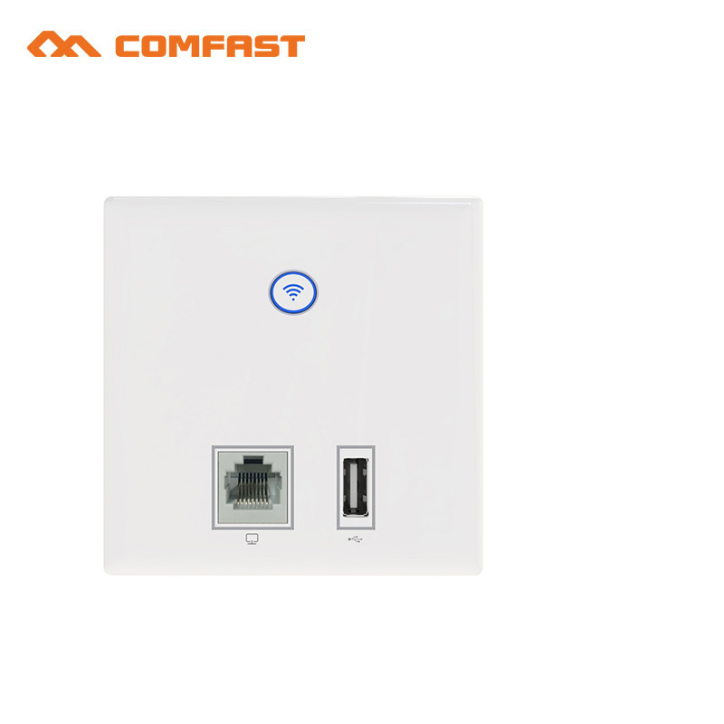 10pcs COMFAST 300Mbps Wireless In wall AP wi-fi Router repeater build-in antennas with LAN/RJ45/USB port Support 48V POE OpenWRT