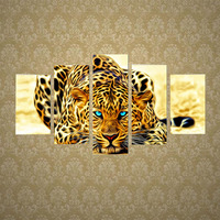 DIY 5D Diamond Embroidery Leopard Animal Painting Cross Stitch Craft Home Decor P101