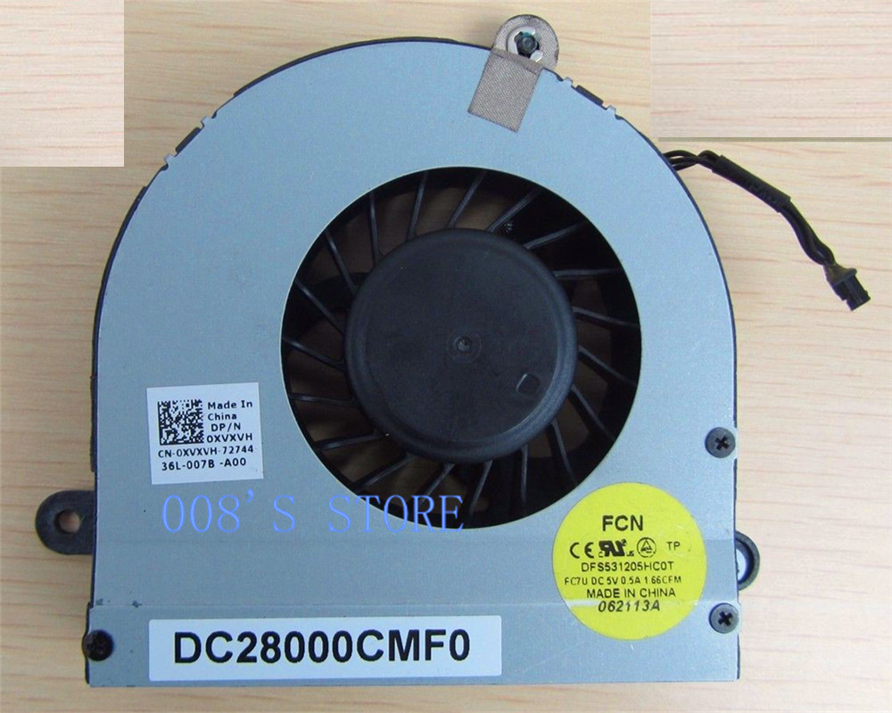 Notebook CPU Cooling Cooler Fan For DELL ALIENWARE M17X R3 R4 XVXVH 0XVXVH By FORCECON DC28000CMF0 DFS531205HC01 FC7U notebook cpu cooling cooling cooler cooler cooling fan -