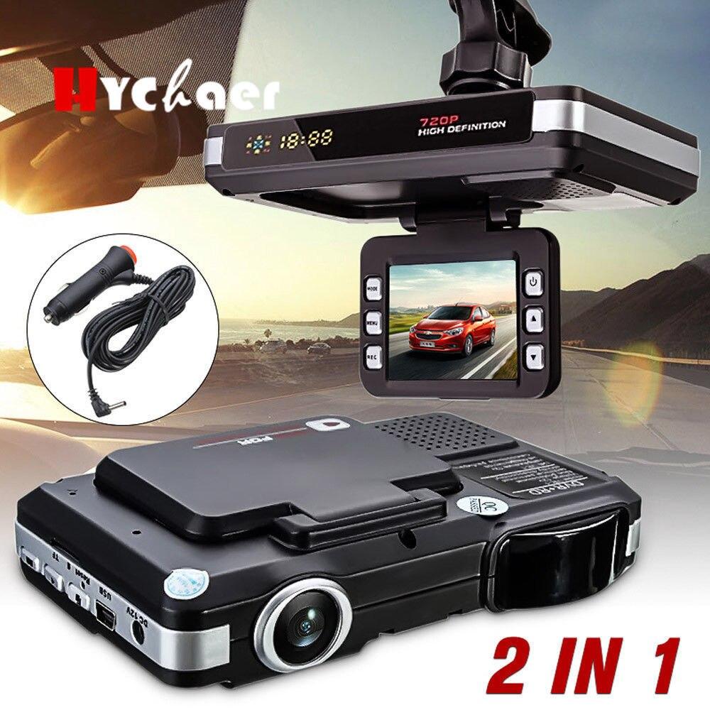 2 in 1 720P Russian English Voice Car Laser Radar Car DVR Camera Radar Detector Auto