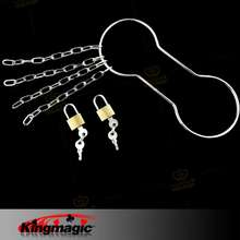 King Magic Chain Shackle Escape,Handcuff Escape, Silver Color Magic tricks, Close-up, Street Magic, Accessories