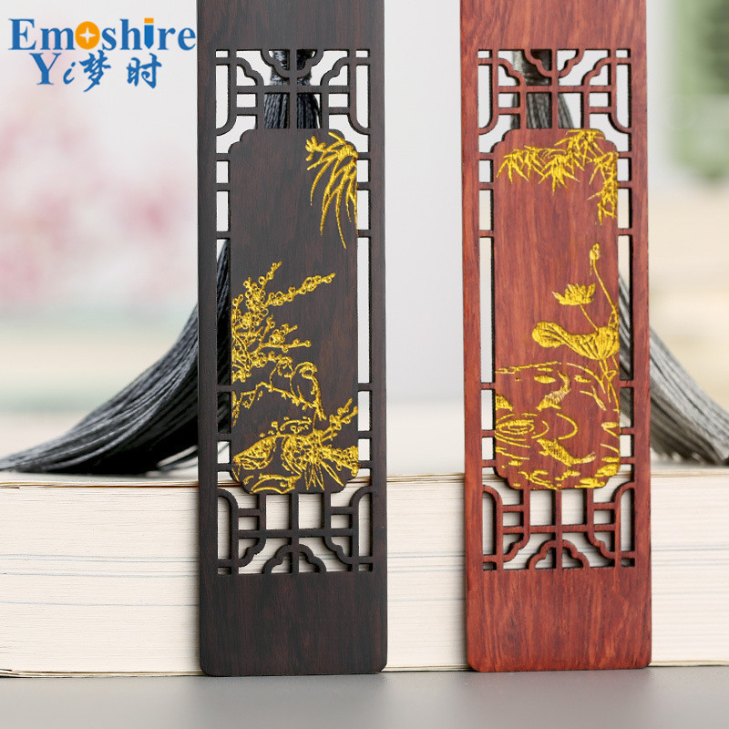 Creative Wooden Window Shadow Bookmarks Suit Complex Classic Chinese Romantic Wooden Bookmarks Ancient Gift Custom Logo M089 wooden ancient bookmarks chinese complex classical teachers festival gifts bookmarks creative bookmarks sets m097