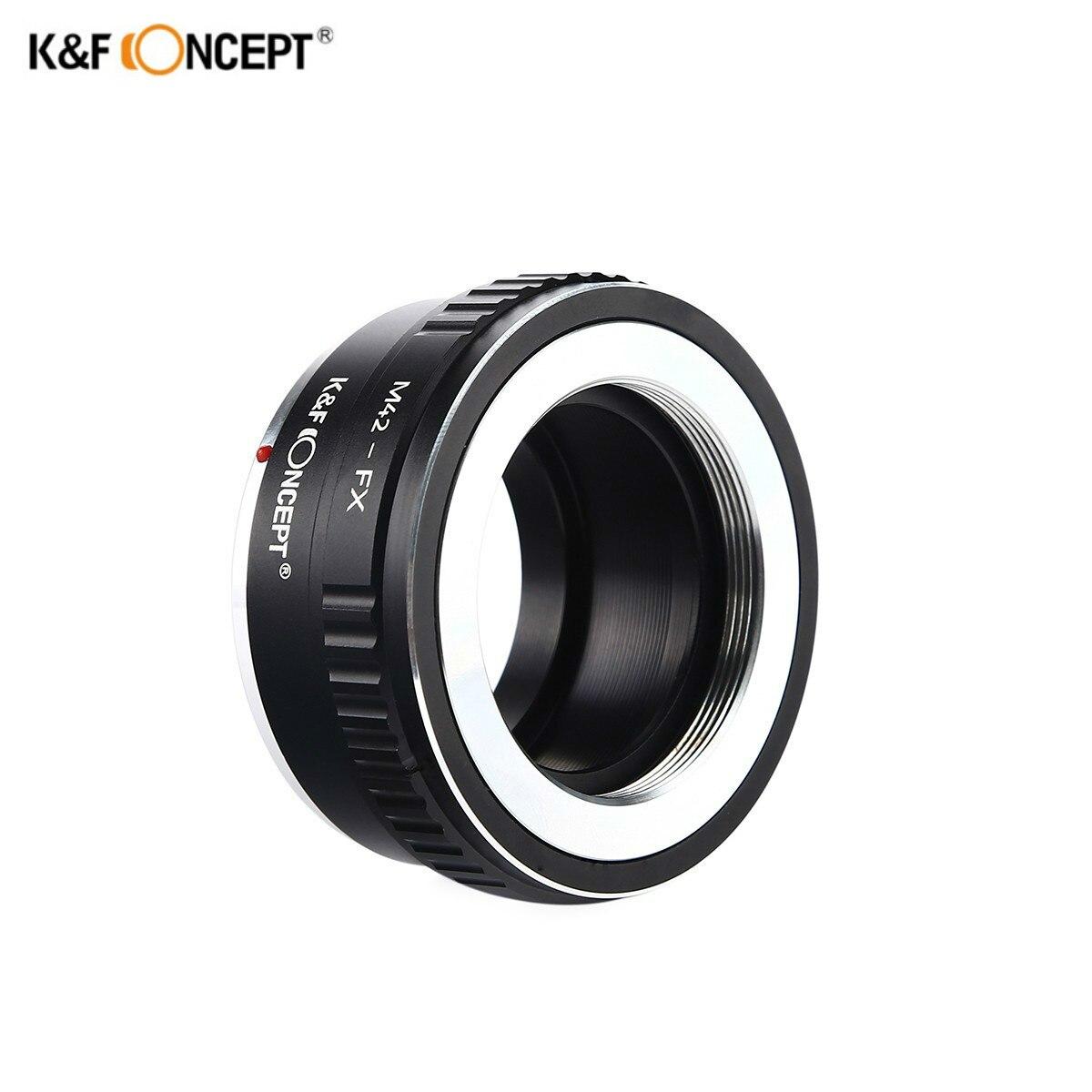 K & F CONCEPT M42-FX Bague D'adaptation D'objectif pour M42 Montage Vis Lens pour Fujifilm X Mont Fuji X-Pro1 X-M1 x-E1 X-E2 Caméra