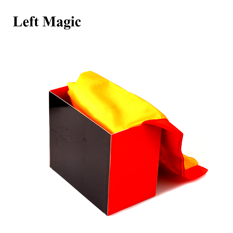 Silk Fountain Box 2 Magic Tricks (Silks Not Included) Silk From Empty Box Magic Props Stage Scraves Accessories Gimmick Props
