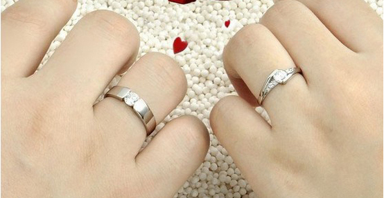 Souvent Mode argent cristal correspondant bagues de fiançailles Couple de  YE64