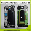 Free shipping 100% Tested Chassis Display Frame Bezel LCD Bracket Middle Frame For Samsung Galaxy S5 G9006 SM-G900F i9600