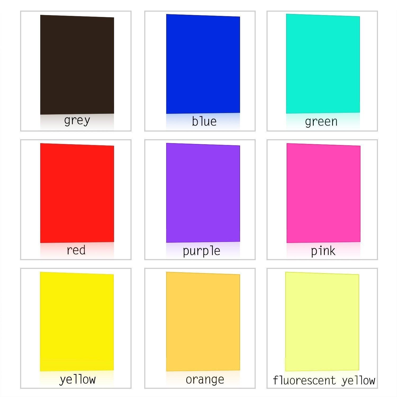 9 Pieces Gel Filter Transparent Color Film Plastic Sheets Correction ...