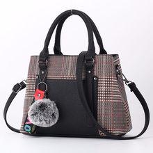 New Mosaic Plaid Korean Women Handbag Fashion Ladies High Quliaty PU Leather Shoulder Bag