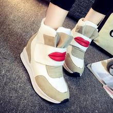 ที่มีคุณภาพสูงลิ่มผู้หญิงรองเท้าลำลองความสูงของผู้หญิงที่เพิ่มขึ้น7เซนติเมตรเวดจ์รองเท้าส้นสูง