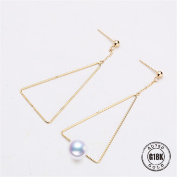 New Design Circle Earrings 18 K Solid Gold Accessorie Earings Women Girls Romantic Jewelry Making Wedding Fine Gift 1