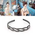Trendy Women Wave-Shaped Rhinestone Toothed Hair Hoop Headband Hair Band Jewelry