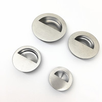 10pcs New Arrival Concealed Pull Handle Embedded Stainless Steel Hidden Round Modern Simple Drawer Cabinet Door
