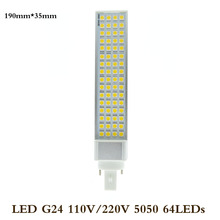 LED Bulbs 5W 7W 9W 12W 15W G24 LED Corn Bulb Lamp Light SMD 5050 Spotlight 180 Degree AC85-265V Horizontal Plug Light