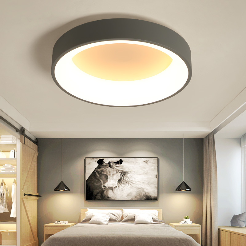 Hot sale white/Gray Minimalism Modern LED ceiling lights for living room bed room lamparas de techo Ceiling Lamp light fixturesHot sale white/Gray Minimalism Modern LED ceiling lights for living room bed room lamparas de techo Ceiling Lamp light fixtures
