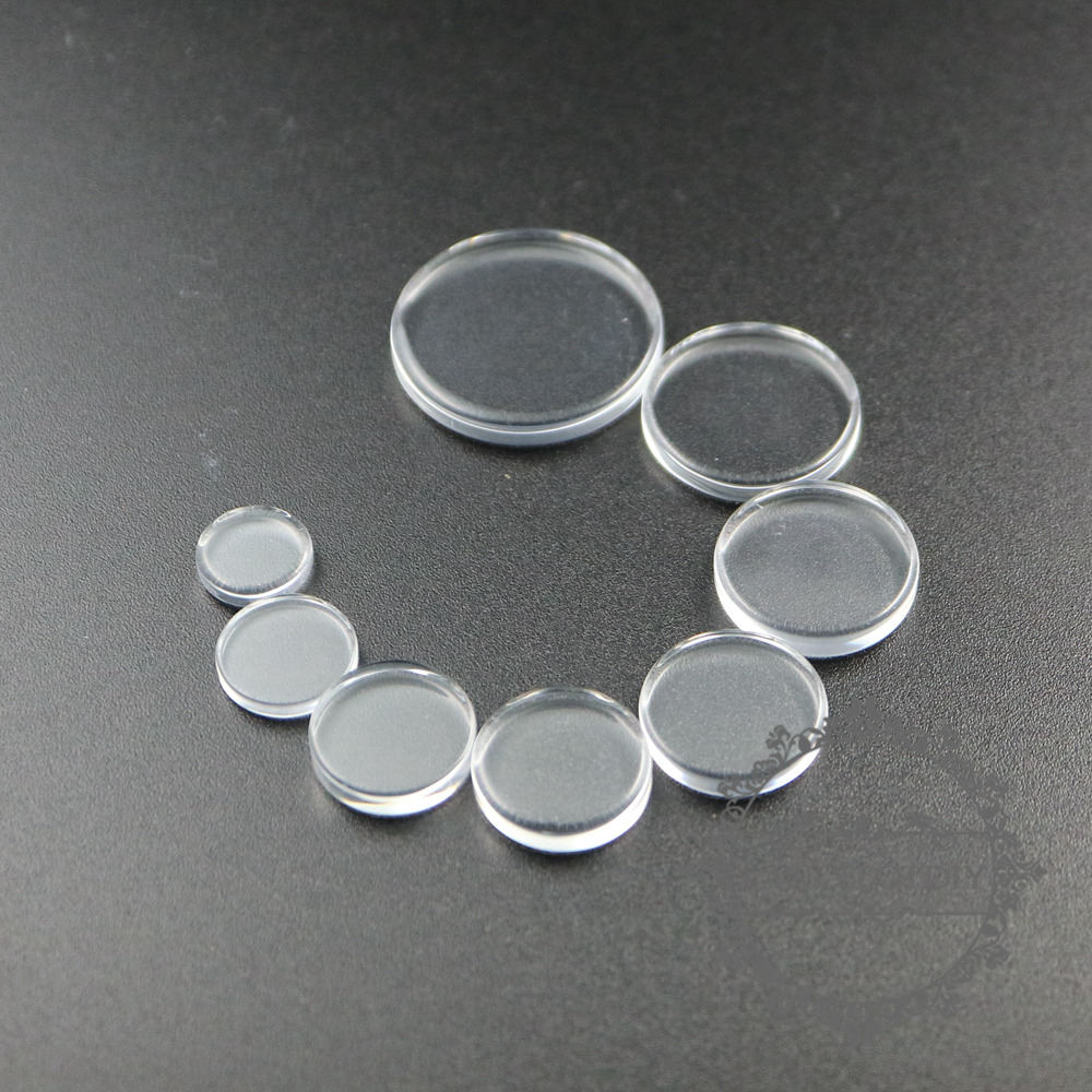 10-25mm round flat transparent glass cabochon DIY supplies 4110152