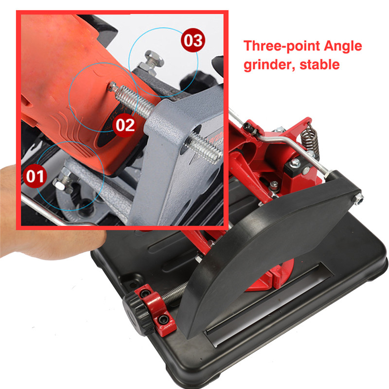 Angle Grinder Stand For 100-125 Angle Grinder Bracket Holder Woodworking Tool DIY Cutting Cast Iron Base Power Tools Accessories (6)