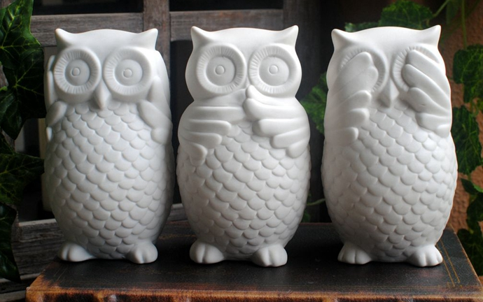 Aliexpress 3 Pcs Lot White Ceramic Owl Figurines Ornaments Modern Home Decors Creative Animal Statues From Reliable Statue Suppliers On