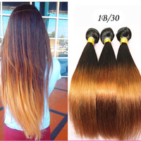 Ombre Human Hair Weave Bundles 7A Brazilian Virgin Hair Straight 3Pcs Ombre Brazilian Hair Extensions Rosa Queen Hair Products
