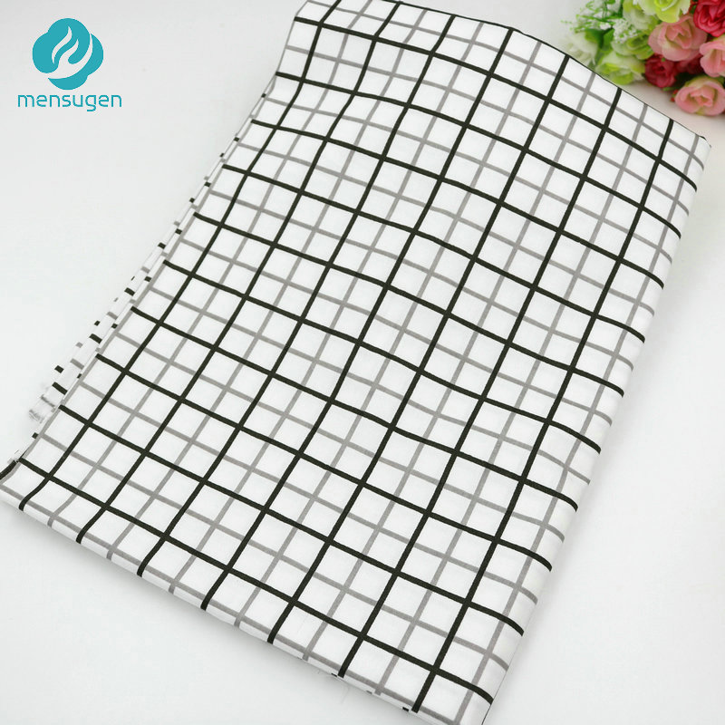 Able 2016 New 50cm*160cm Grey White Lattice Cotton Fabric For Patchwork Quilts Pillows Cushions Fabrics Sewing Tissue Patchwork Telas