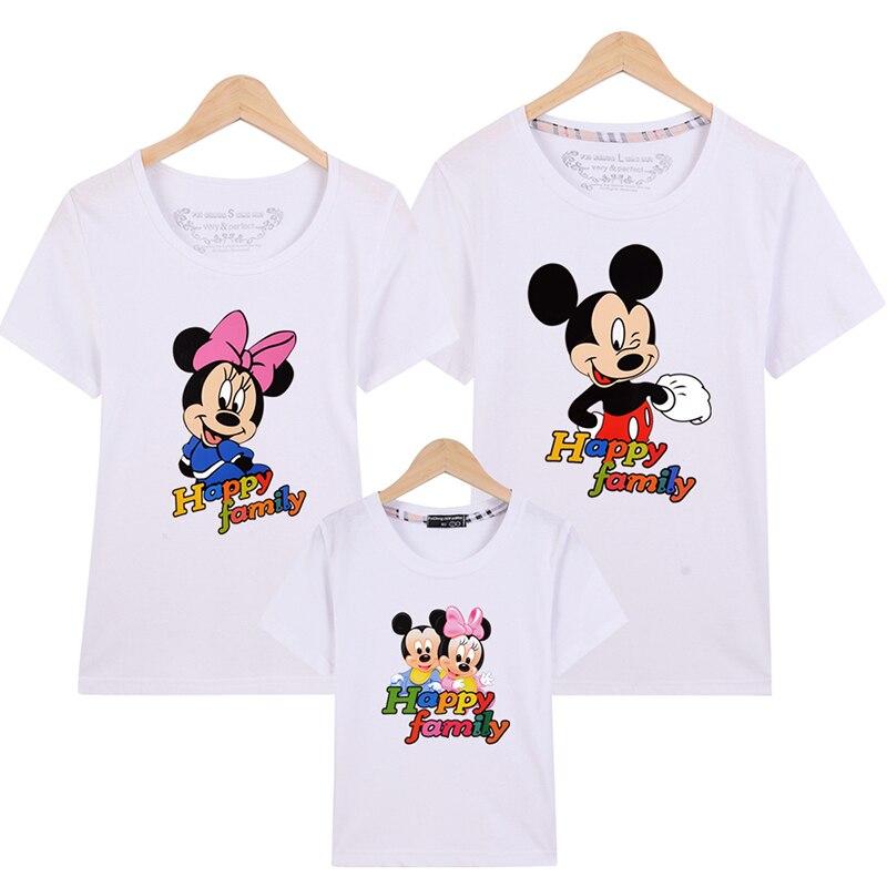 Compra camiseta de la familia mickey online al por mayor