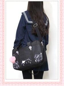 Image 5 - Styl japoński jk jednolity Cosplay torebka kobiety moda Kawaii kot Crossbody torba Anime szkolna torba na ramię podróżna torba kurierska