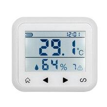 Беспроводной светодиодный Дисплей Регулируемый температуры и влажности Датчик сигнализации защиты личной и безопасность собственности.