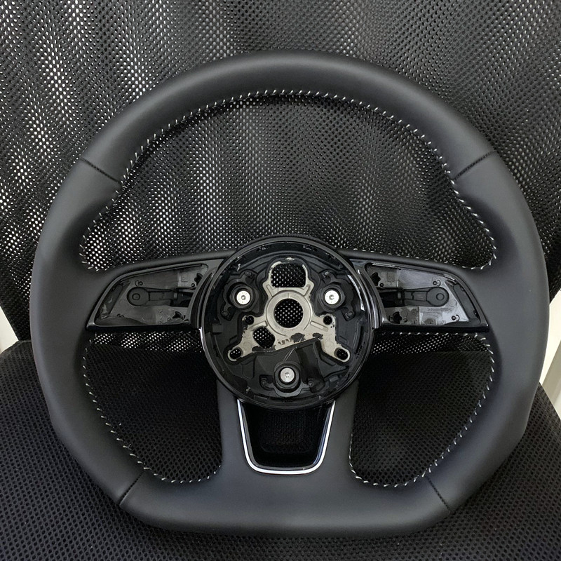 for Audi new A3 A4L A5 B9 flat bottomed sports leather full perforated Semi Perforated steering wheel
