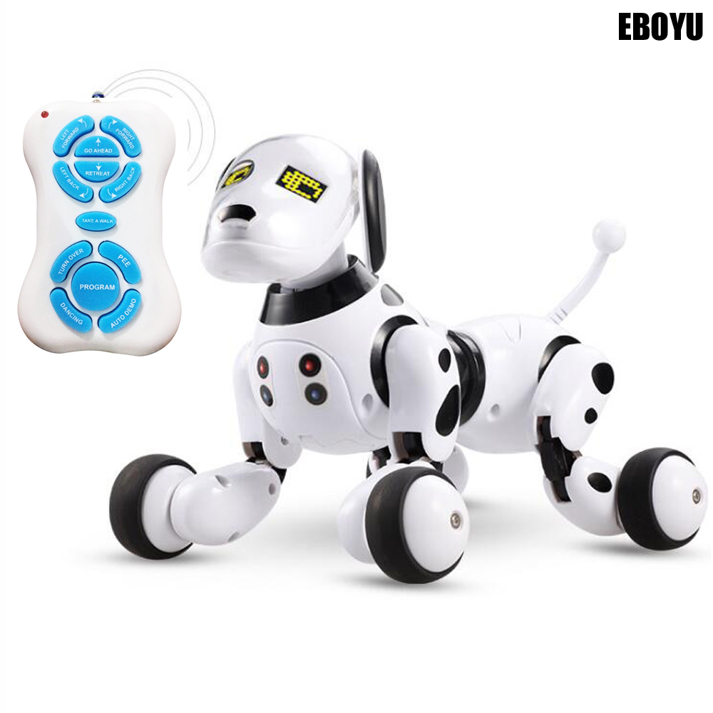 EBOYU 9007A Updated 2.4G Wireless RC Dog Remote Control Smart Dog Electronic Pet Educational Intelligent RC Robot Dog Toy Gift