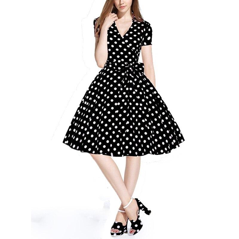 ᐅWomens Summer Vestidos 2016 verano estilo 50 s vestido retro de la ...