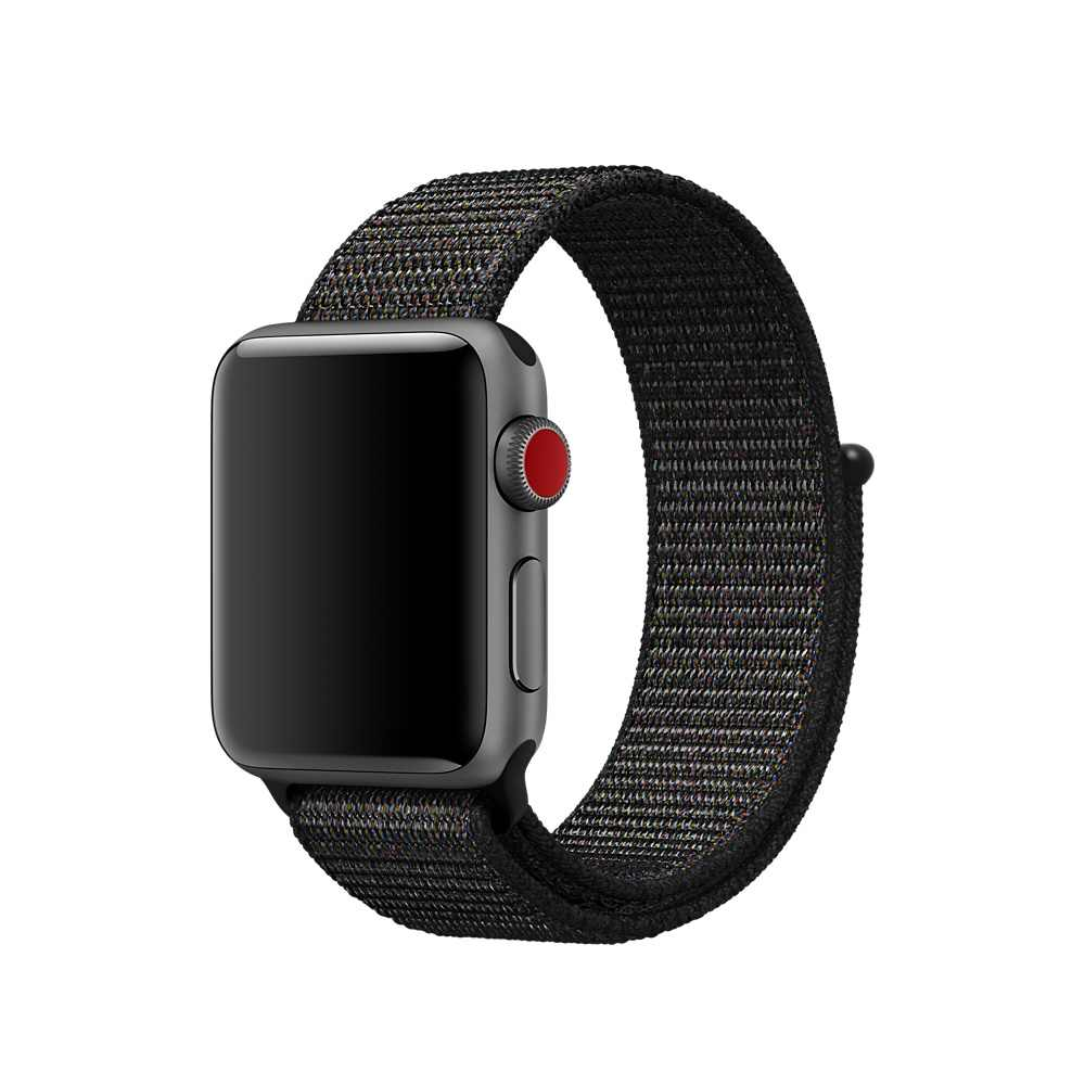 FOHUAS Lightweight Breathable Nylon Sport Loop Band for Apple Watch Series 4 3 2 1 42MM 38MM for iWatch watchband Sport Loop