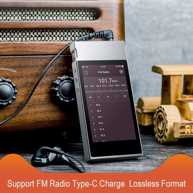 FiiO Metal Case M7 Bluetooth 4.2 aptX-HD LDAC Hi-Res Touch Screen LCD Mini Music MP3 play with FM Radio(Black/Red/Blue/Silver) 4