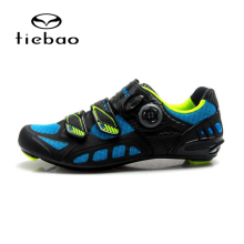 цена на TIEBAO Lightweight Road Bike Shoes Carbon Fiber Outsole Road Cycling Shoes Outdoor Sport Bike Shoes Bicycle Sneaker Self-locking
