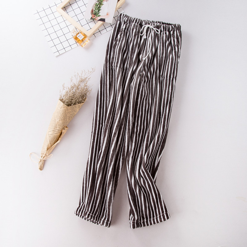 Products Couple Flannel Pyjama Pants Women\'S Pajamas With Pants Women Bottoms Lounge Pants Sleeping Clothes