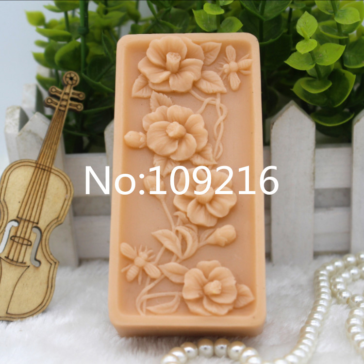 New Product!!1pcs Cane Vine Flowers (zx285) Food Grade Silicone Handmade Soap Mold Crafts DIY Mould image