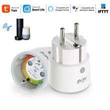 2 teile/los NEO Smart Stecker WiFi Buchse 3680W 16A Power Energie Überwachung Timer Schalter EU Outlet Stimme Für Alexa google Hause