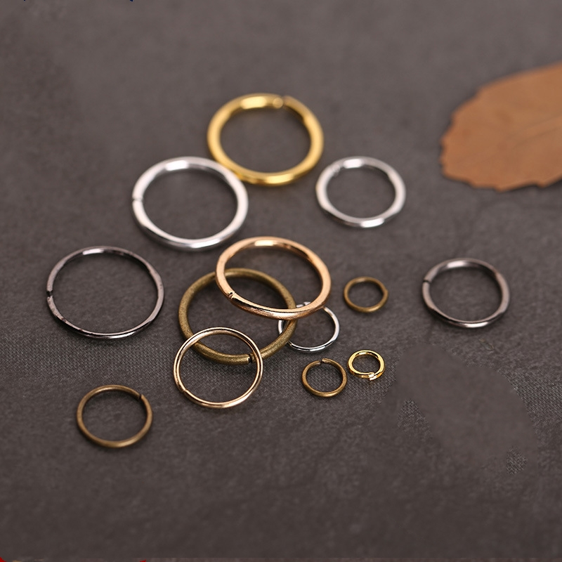 100g 4mm 5mm 6mm 7mm 8mm 10mm 12mm 14mm 16mm Open Jump Rings Split Ring Bronze Gunblack Gold Silver plated Link Loops findings цена